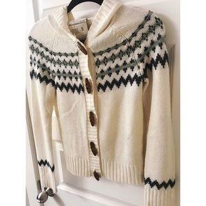 Aeropostale Cozy Knit Cabin Hooded Sweater